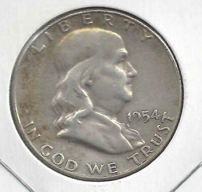 1954 S Franklin half dollar Nice Circulated U.S. 90% silver coin
