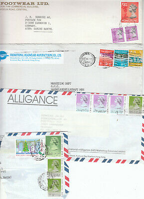 Hong Kong - business mail - several covers last years - higher values (W 922)