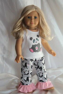 Doll Clothes Leggings Pink Alpine Print fits 18 inch American Girl