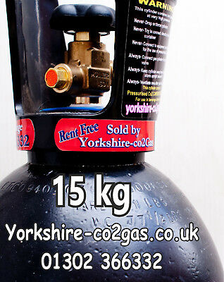 Co2 Gas Cylinder lightweight with 15.5kg Liquid Co2 only 115cm High Rent Free