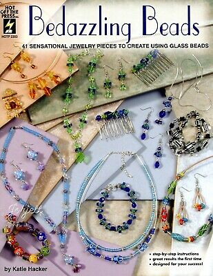 Bedazzling Beads ~ 41 Glass Bead Jewelry Designs beading pattern booklet NEW