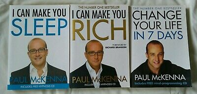 Paul McKenna book and CD collection; Sleep/Rich/Change your life in 7 days.