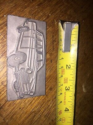 Vintage Genuine Newspaper Car Printing Block