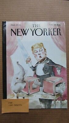 THE NEW YORKER MAGAZINE May 23, 2016 Trump Grand Illusion by Barry Blitt