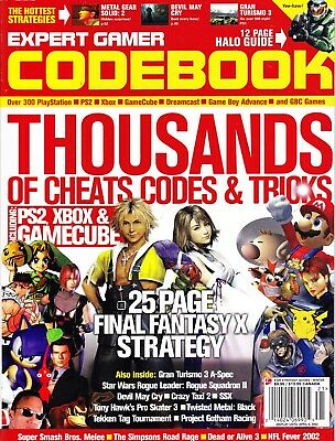 Expect Gamer Codebook Strategy Guide April 2002 Final Fantasy X Halo