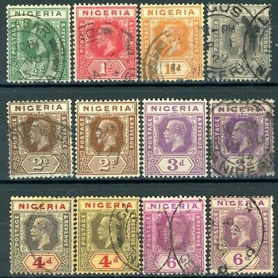 s836158 Nigeria - Sc#18//28 Canceled - Short Set - With Varieties