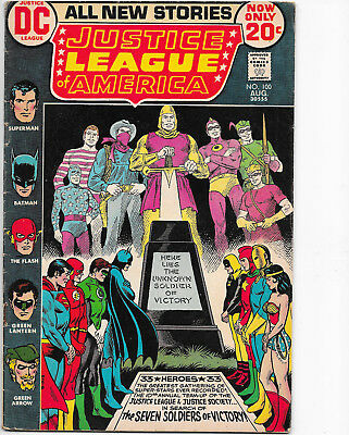 Justice League Of America #100 DC Comics 1970s Len Wein  F+