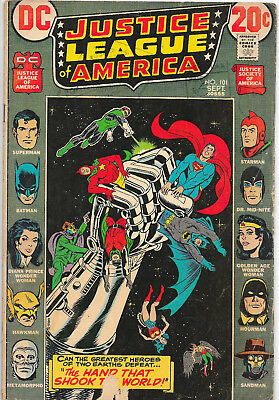Justice League Of America #101 DC Comics 1970s Len Wein  VG+