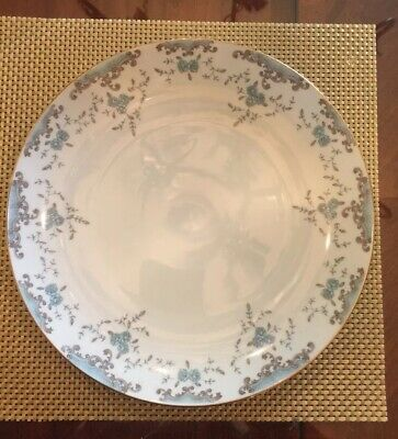 """Imperial China Seville By W Dalton Serving Platter 11.75"""" Blue Roses"""