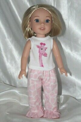Dress Pajamas fits 14inch American Girl Wellie Wishers Doll Clothes Outfit