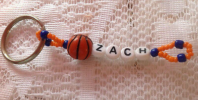 Boys Or Men's Personalized Keychain Or Zipper Pull With The Name Zach-New