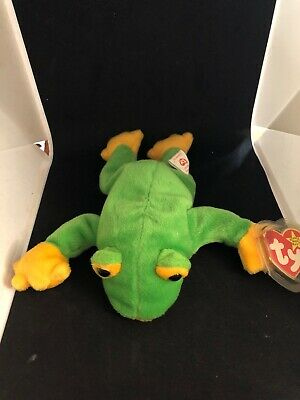 be84db76653 TY LEGS THE FROG BEANIE BABY - MINT with NEAR PERFECT TAG -  2.75 ...