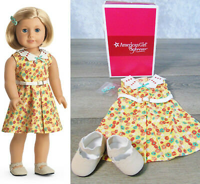 NEW American Girl Doll Clothes KIT FLORAL DRESS OUTFIT Shoes Belt Hair Barrette!