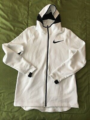 057c3ef1e57 Nike Therma Flex Showtime Men s Full ZIp Basketball Hoodie XLT White Casual  New
