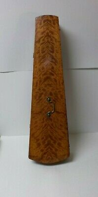 Early-Mid 1800's Tiger Maple Violin Case, Coffin Shape, No Instrument