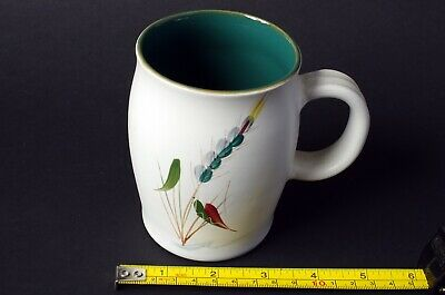 Denby mug Greenwheat design and signed by the artist Albert Colledge