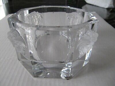 "Versace Rosenthal Designer MEDUSA Germany Crystal Candy Dish Octagon Bowl.5"" NEW"
