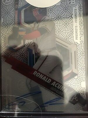Ronald Acuna 2018 Bowman High Tek redeemed Auto plus two Rookie cards nice lot