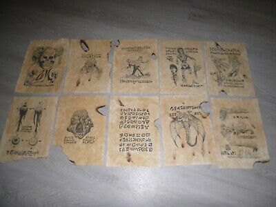 10 X Evil Dead Book Of The Dead Necronomicon Pages ! Army Of Darkness