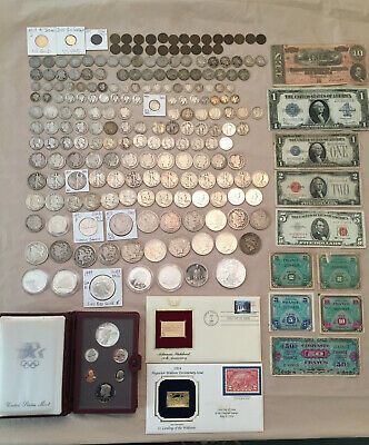 US Coin/Paper Money Large Lot - GOLD, SILVER. Rare Key Dates CC Morgan Dollars $