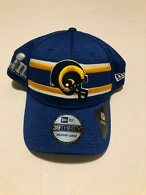 Los Angeles Rams LA New Era 39THIRTY Super Bowl LIII Sideline Cap Flex Hat  M  9db85e3faf03