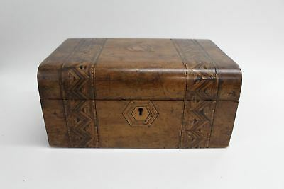 Antique Victorian English 1800-1900s Jewellery Case Trinket Box Mahogany