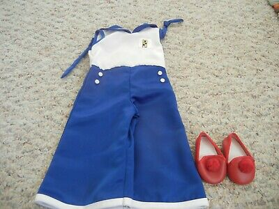 Vintage American Girl Doll Pleasant Co Kit Sailor Suit Outfit with red shoes