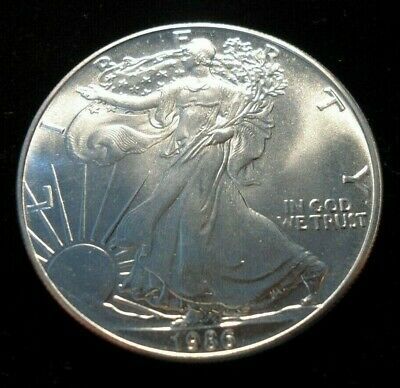1986 American Silver Eagle .999 Pure One Ounce UNC BU MS #4