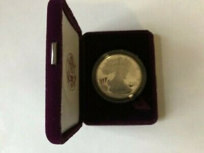 1992-S Silver American Eagle 1 Oz., One Dollar Proof Coin w/ Box + COA