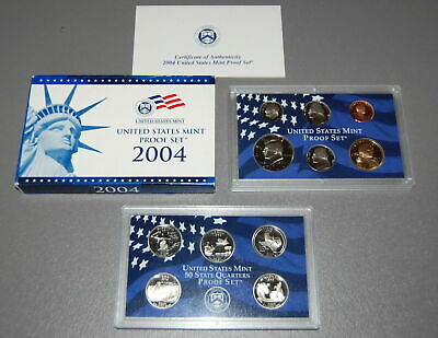 2004-S US Mint  Proof Set in OGP Blue Box - 11 Clean Blemish-free Coins