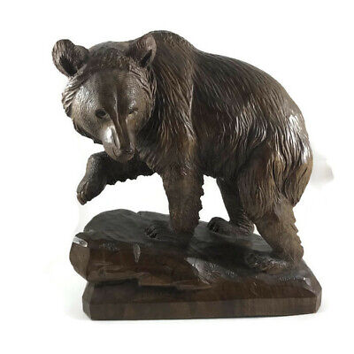 Swiss Master Carver - Antique  Bear Carving - SIGNED - Abplanalp