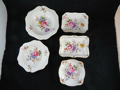 Lot of 6 Vintage Royal Crown Derby Floral Trinket Dishes England