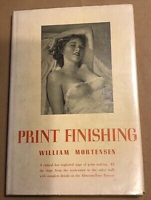Print Finishing (The Abrasion - Tone Process) By William Mortensen, 1948 Print