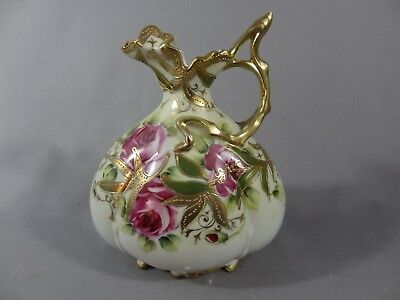Nippon ( Old Noritake ) Beautiful rose design Ewer / Vase.