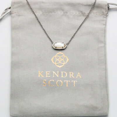 Gold Fashion Jewelry NWT Kendra Scott Rayne Long Pendant Necklace in Ivory Pearl Jewelry & Watches
