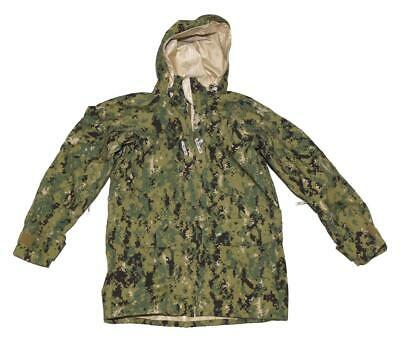 US Navy NWU Type III AOR2 Woodland Gore-Tex Parka Jacket - SMALL REG - SEAL NSW