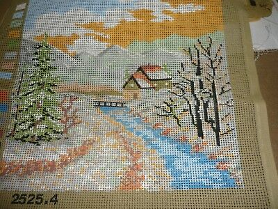 """house By The Rivers Side"" -Tapestry Canvas - New"