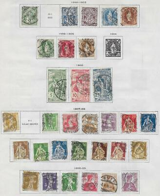 31 Switzerland Stamps from Quality Old Album 1889-1909