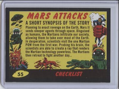 2017 Topps Mars Attacks The Revenge Black Border SP Checklist #53/55 Card No. 55