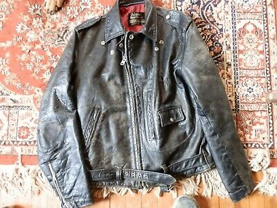 Vintage 60's Oakbrook Sears men's leather motorcycle jacket