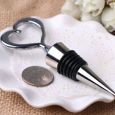 1PC Reusable Heart Shaped Red Wine Stopper Stainless Steel Vacuum Sealed Plug