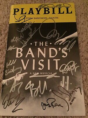 The Bands Visit Broadway Playbill signed autographed authentic
