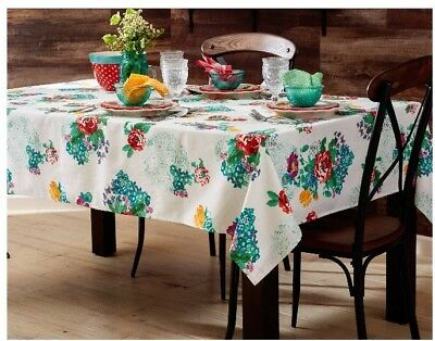 """The Pioneer Woman Country Garden Tablecloth 60"""" By 84"""" New"""
