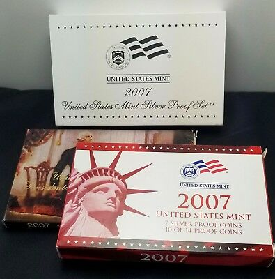 2007 US Mint Silver Proof Set, with COA & Box