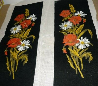 "2 X ""flower Arrangement"" - Tapestry Canvases - New"
