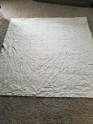 Vintage Ivory Lace Tablecloth - Old!! From The 40's!! - Square Size - 62 X 62