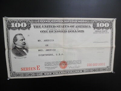 1949 U.S. Treasury Dept Poster Savings Bond Advertising Grover Cleveland Vintage