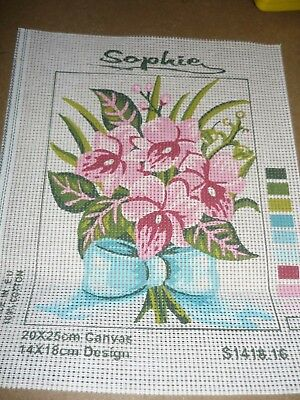 "Sophie - ""flowers"" - Small - Tapestry Canvas - New"