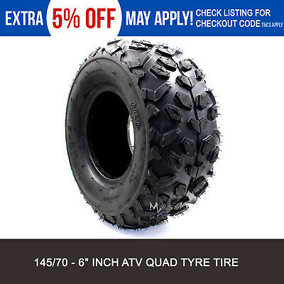 "1x 145/70-6"" inch Tyre Tire 50cc 110cc 70CC KIDS ATV Quad Bike Go Kart Buggy"