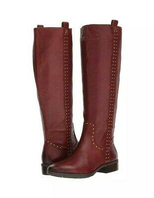 f167db046 Sam Edelman Womens Prina Redwood Leather Knee High Riding Boots New Size 8.5